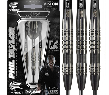 Target Phil Taylor Power 8Zero Black B 80%