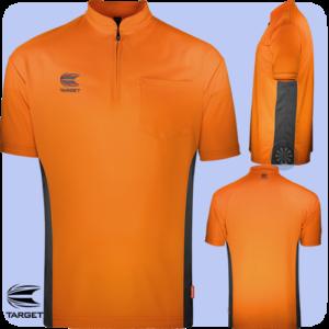 Coolplay Collarless Shirt Orange & Dark Grey